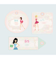 Price Tags With Fashion Girls set vector image
