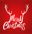 merry christmas with decorative antlers vector image