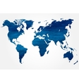 Abstract background with map of the world vector image
