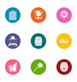 apiary icons set flat style vector image