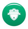 badge warrior icon green vector image
