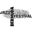bermuda jazz festival text word cloud concept vector image vector image