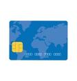 blue credit card global bank vector image