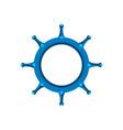 blue ship steering wheel design eps 10