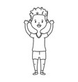 boy avatar cartoon character black and white vector image