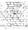 brick wall background grunge vector image vector image