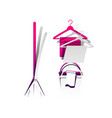 broom bucket and hanger sign detachable vector image vector image