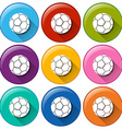 Buttons with balls vector image vector image