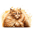 cat wall sticker vector image vector image