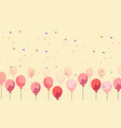 celebration background yellow balloons floating vector image vector image