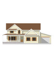 classical american house flat icon vector image