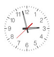 clock face isolated on white vector image vector image