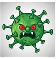 coronavirus scary monster cartoon character design vector image