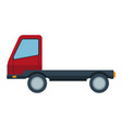 delivery truck trailer transport vehicle vector image vector image