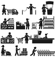 EMPLOYEES IN THE SUPERMARKET vector image