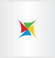 fan turbine logo icon symbol vector image
