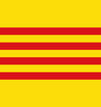 flag of catalonia of spain vector image vector image