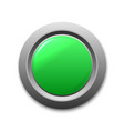 green circle button template for your design vector image vector image