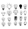 hand drawn light bulbs vector image
