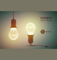 hanging incandescent lamps background vector image vector image