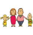 happy cartoon family vector image vector image
