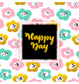 happy day lettering concept vector image
