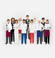 hotel restaurant team concept in uniform group of vector image vector image
