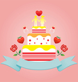 human symbol lover on top cake vector image vector image