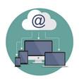 internet download vector image