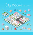 isometric set module city vector image vector image