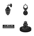 lantern amulet and other web icon in black style vector image vector image