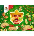 mexican sombrero food and drink cinco de mayo vector image vector image