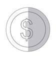 middle shadow monochrome circle with currency vector image vector image
