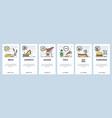 mobile app onboarding screens fast food vector image vector image