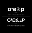modern alphabet font overlap style calligraphy vector image