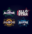 modern professional emblem all star collection vector image vector image
