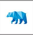 polygonal shape bear logo animals vector image vector image