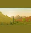 restful lush green spring landscape vector image vector image