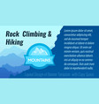 rock climbing and hiking - layout design of vector image vector image