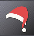santa hat isolated on transparent vector image vector image