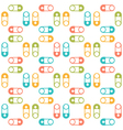 seamless pattern with pins vector image