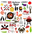 set of barbecue and grilled food vector image vector image