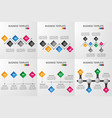 set of rhombus infographics template vector image vector image