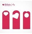 Set of three valentines day themed door hangers vector image vector image