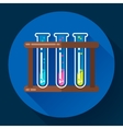 set test tubes bubbling sparkling liquid icon vector image vector image