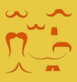 set with men moustaches funny vintage shapes vector image