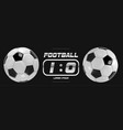 soccer or football white banner with 3d ball and vector image vector image