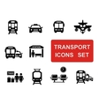 social transport set vector image vector image