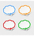 speech bubble collection transparent background vector image vector image