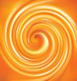 spiral liquid surface vivid orange color vector image vector image